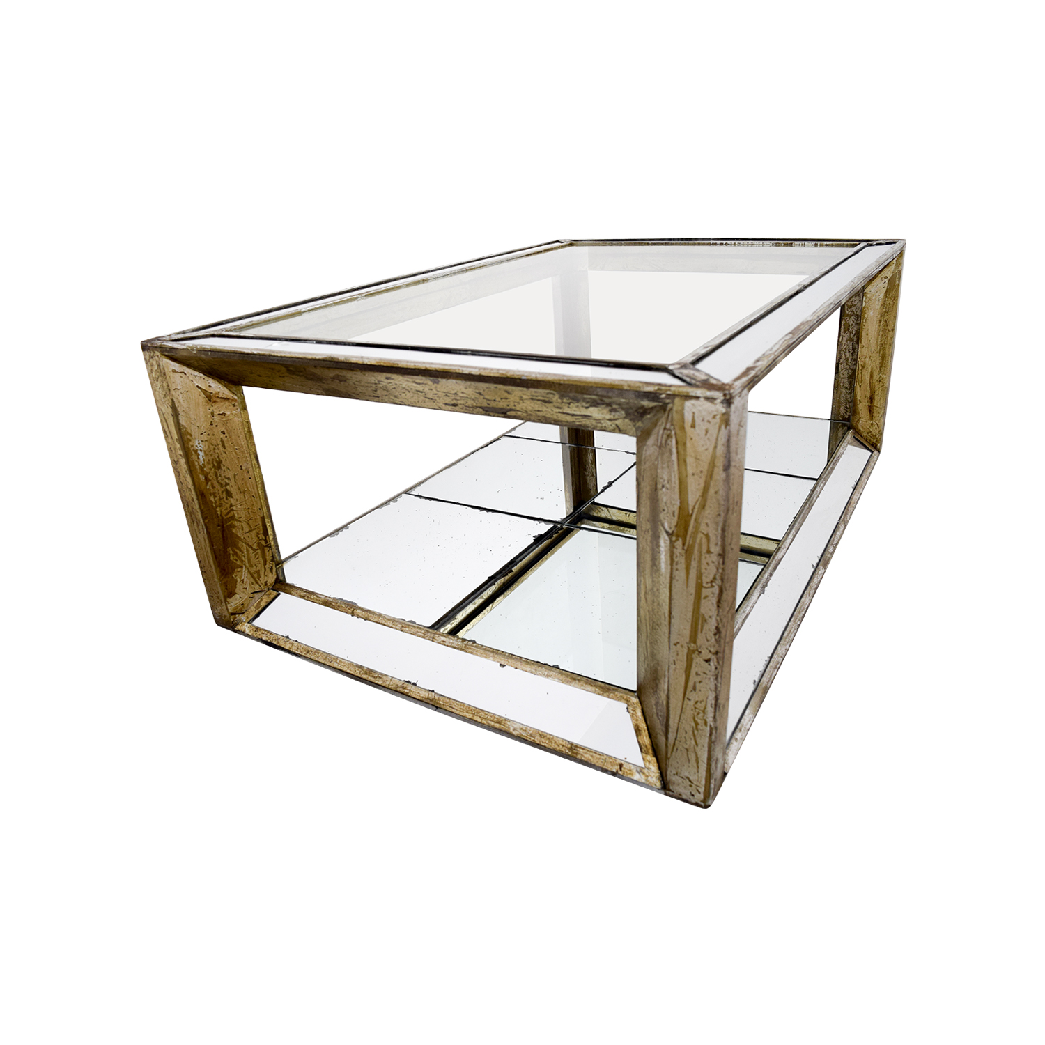 Houston Furniture Houston Furniture Mirror and Glass Coffee Table nyc