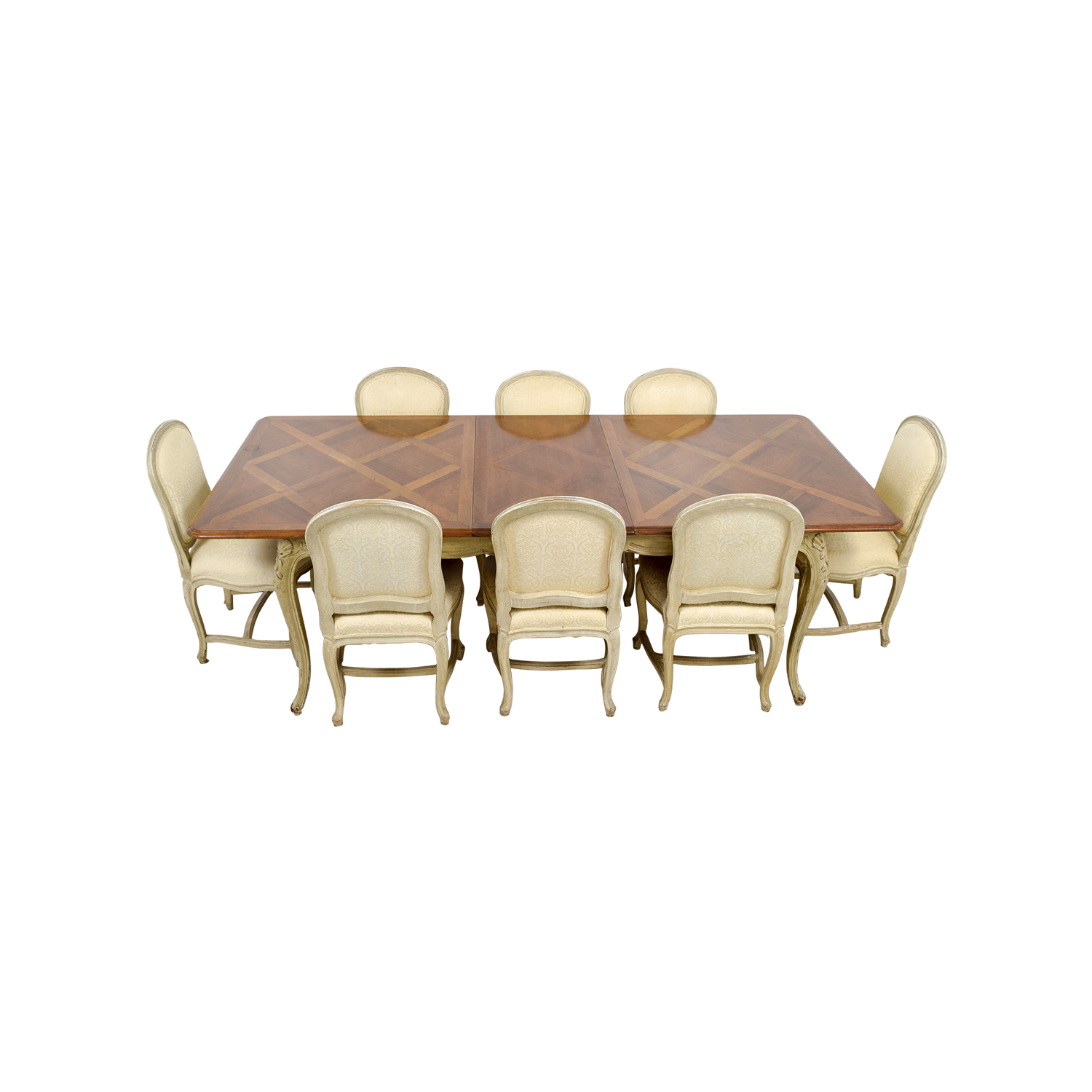 shop Formal Dining Table with Ten Chairs