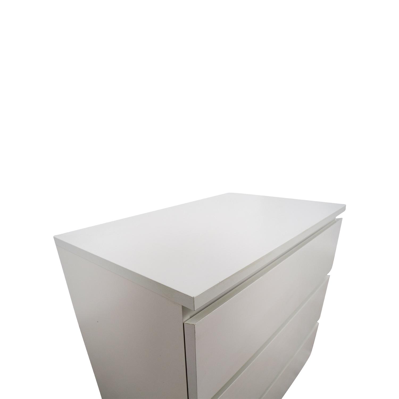35 Off Ikea Ikea Malm White Dresser Storage