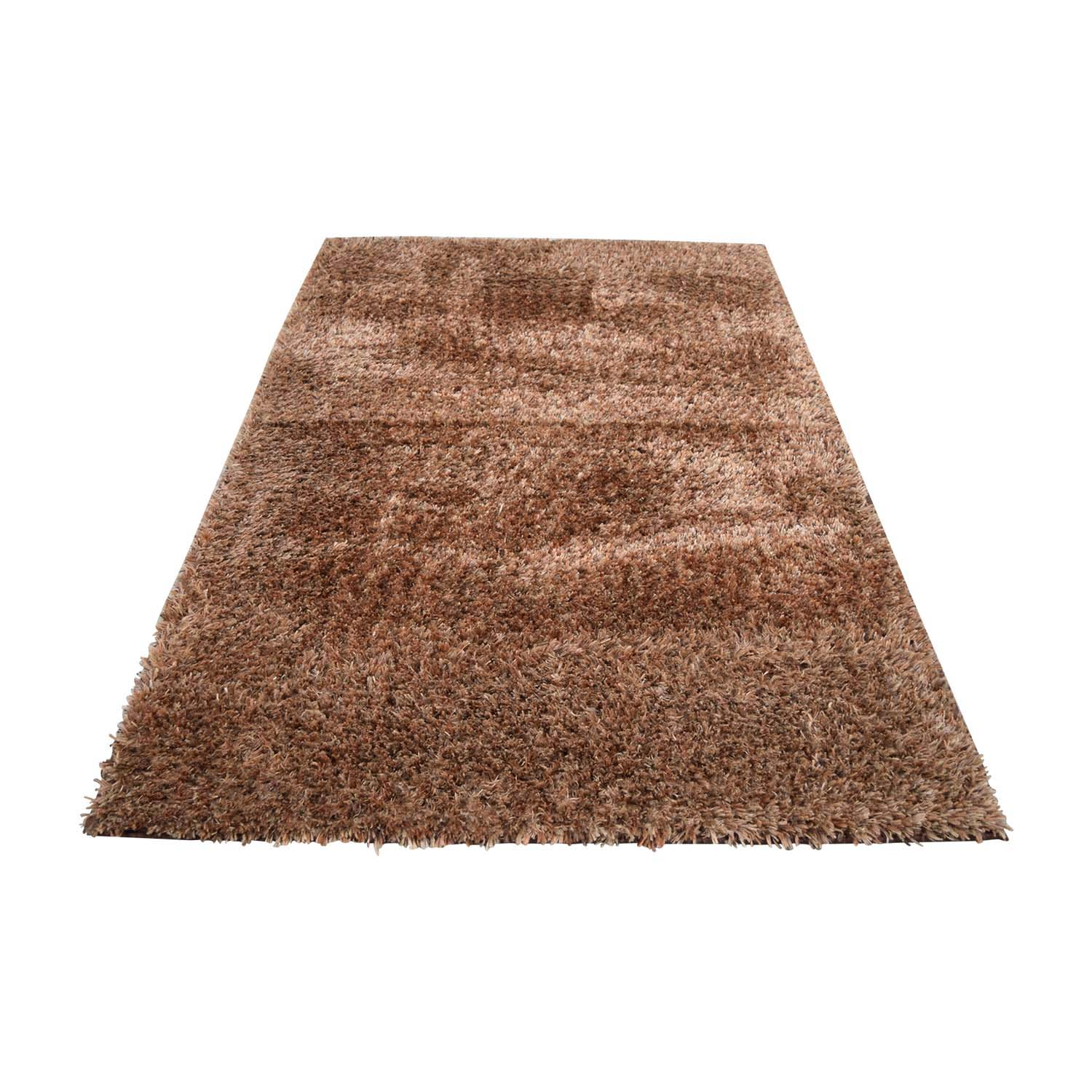 Brown Shag Rug used