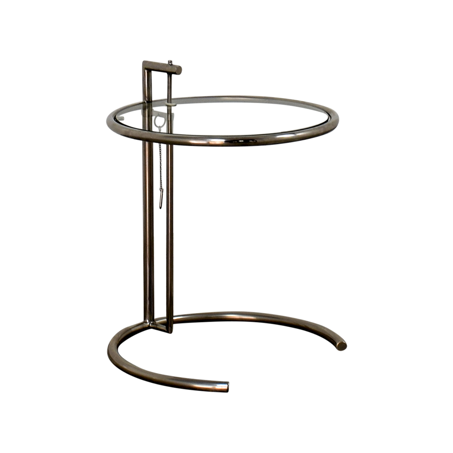 90 off eileen gray eileen gray glass and chrome side table tables. Black Bedroom Furniture Sets. Home Design Ideas