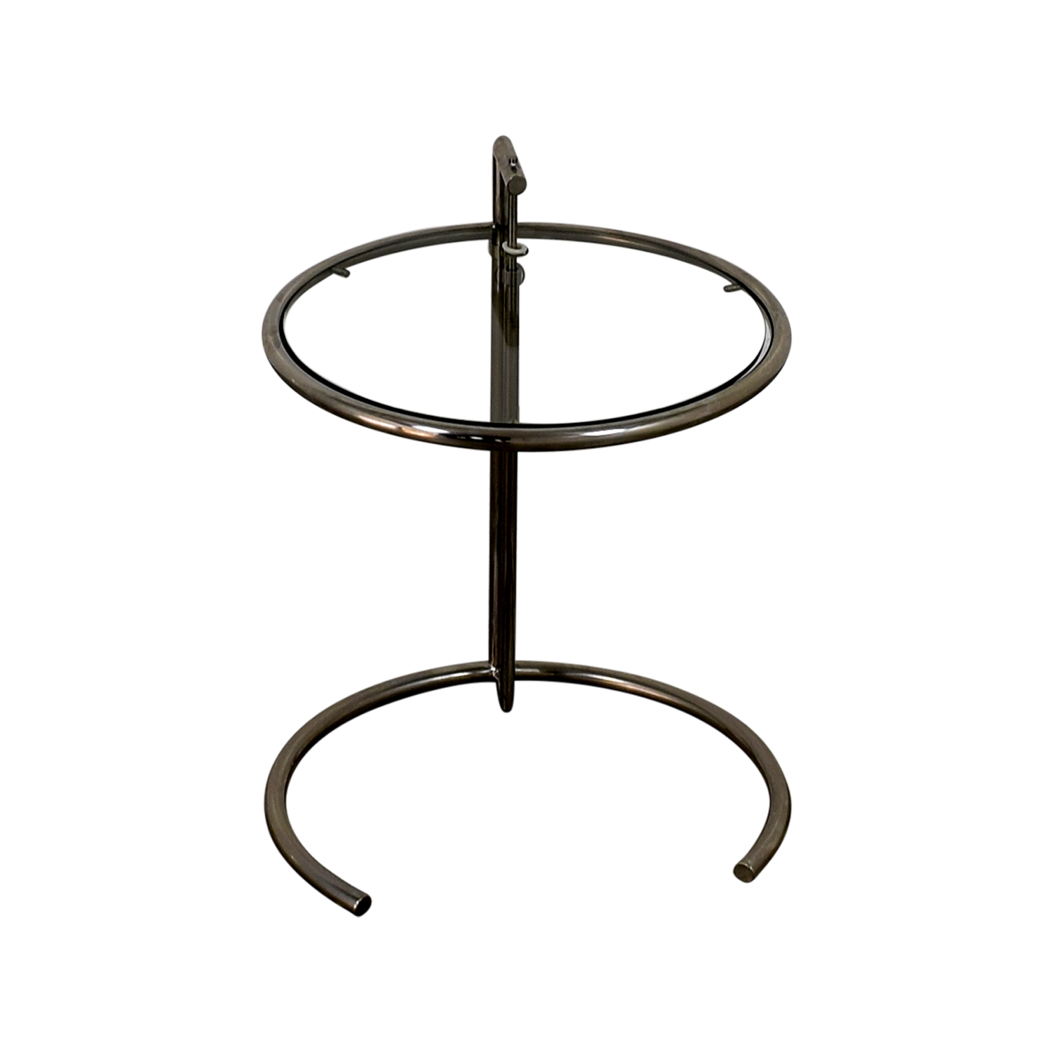 Eileen Gray Eileen Gray Glass and Chrome Side Table discount