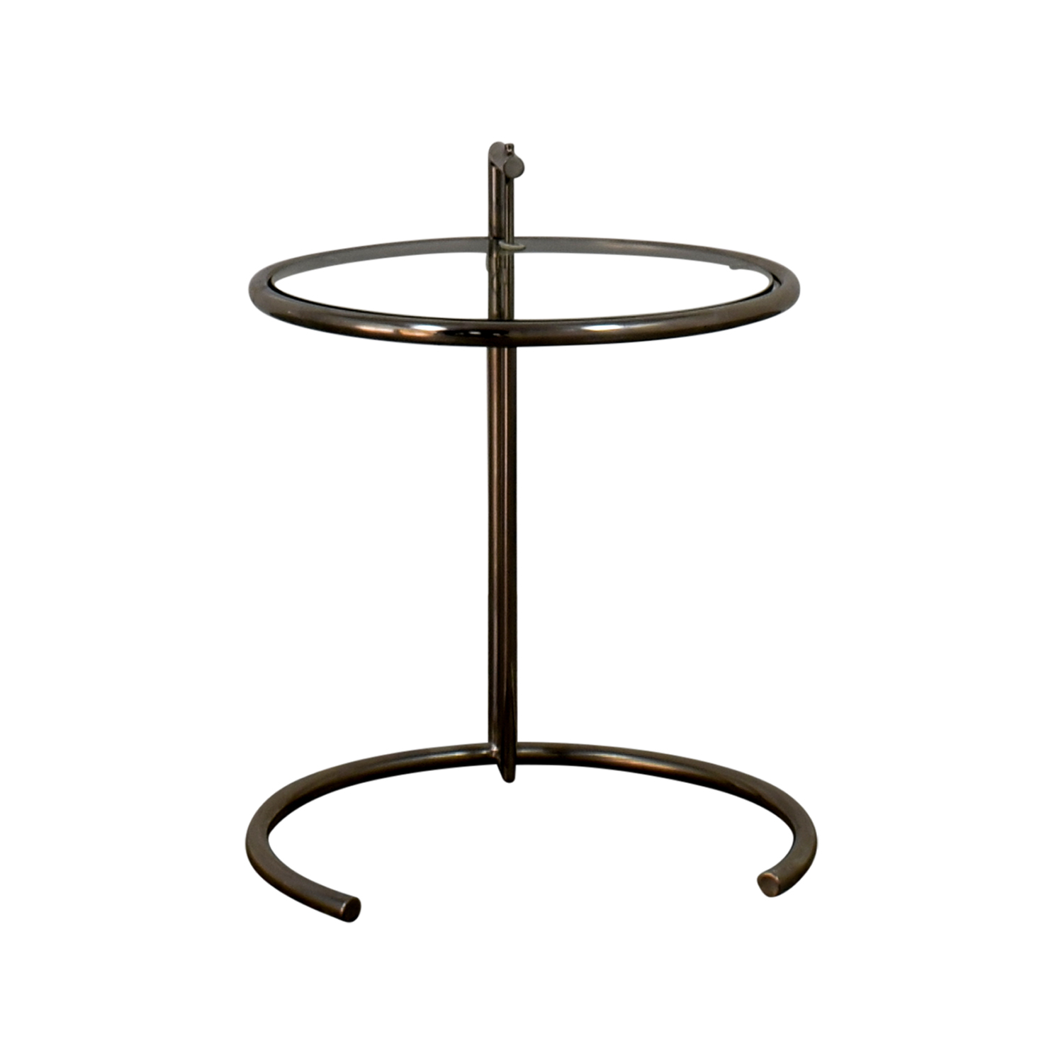 Eileen Gray Glass and Chrome Side Table sale