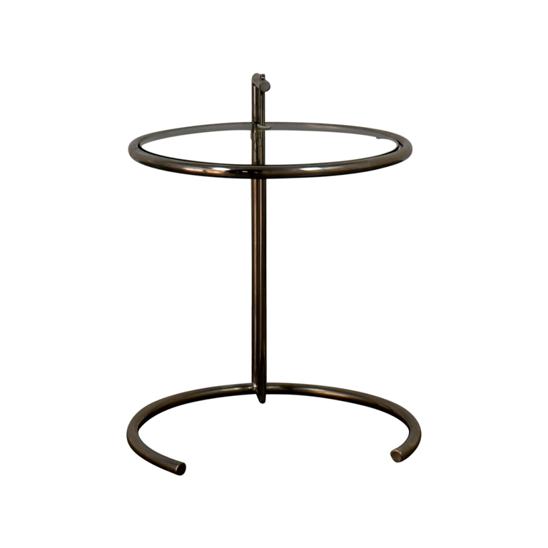 Eileen Gray Eileen Gray Glass and Chrome Side Table
