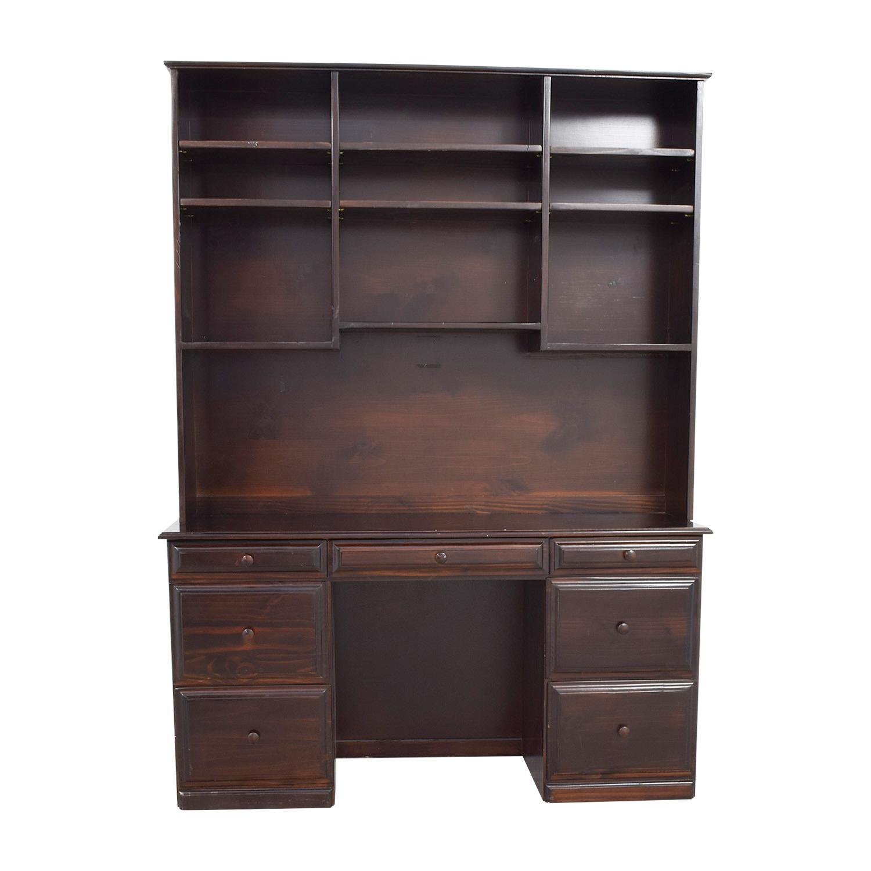 buy open shelf hutch desk home office desks