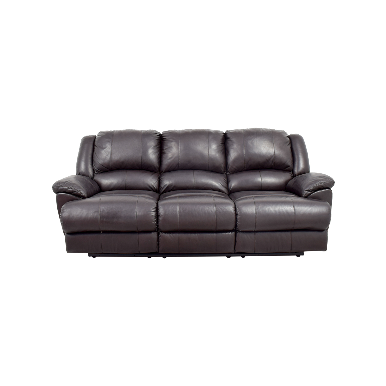 Jennifer Convertibles Jennifer Convertibles Brown Leather Sofa for sale