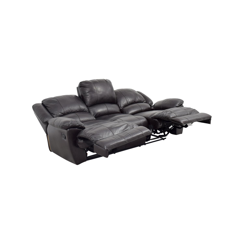 48% OFF - Jennifer Furniture Jennifer Convertibles Brown Leather Sofa /  Sofas