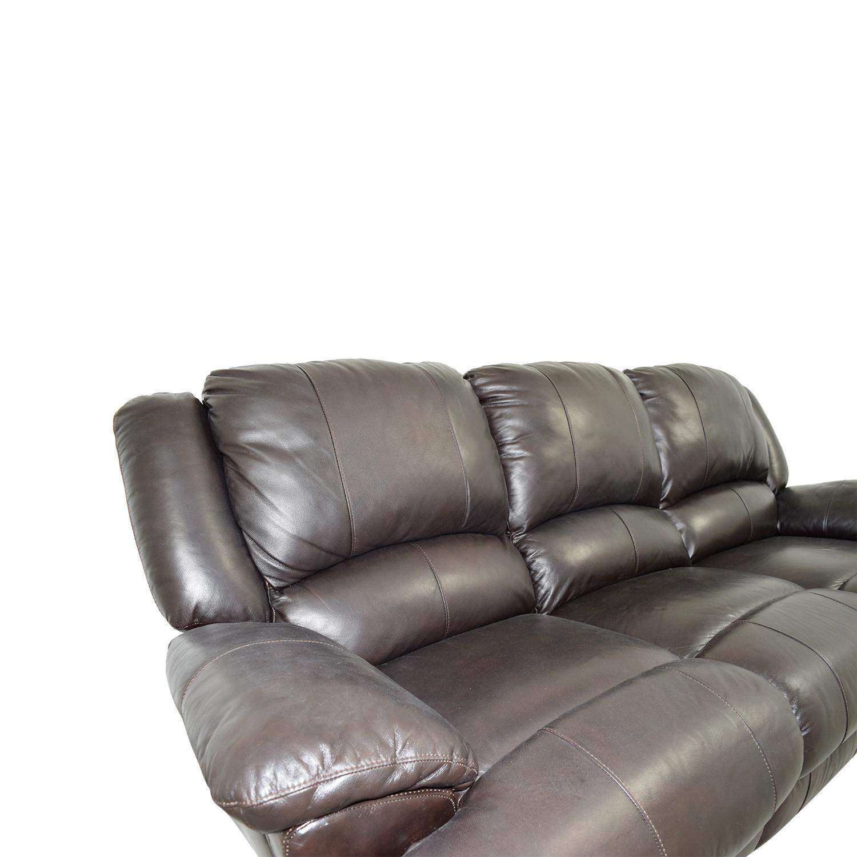 48% OFF - Jennifer Furniture Jennifer Convertibles Brown Leather ...