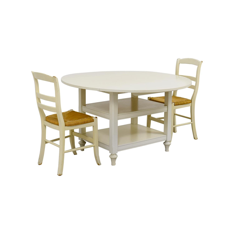 62% OFF - Pottery Barn Pottery Barn Shayne Drop Leaf Table Set / Tables