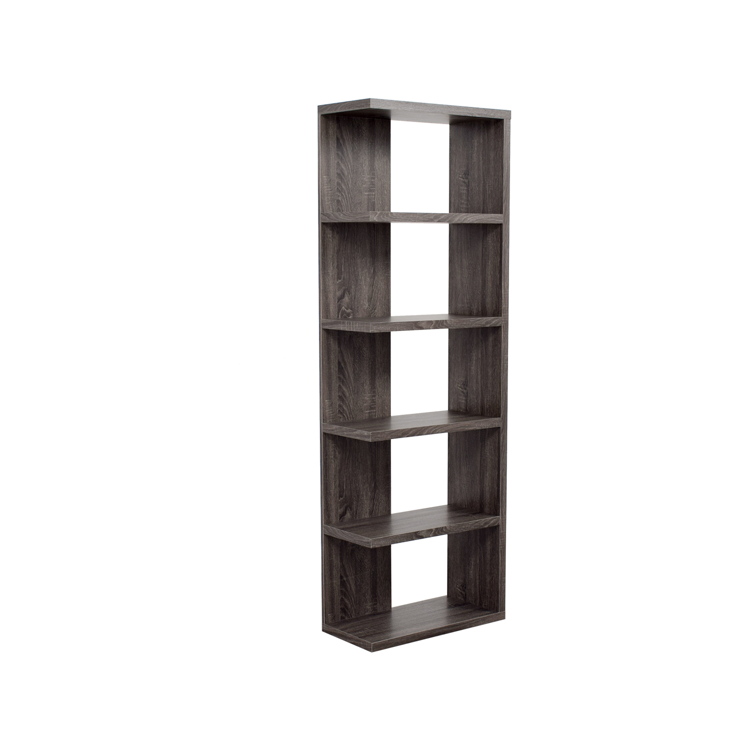 Contemporary Weathered Grey Bookcase sale