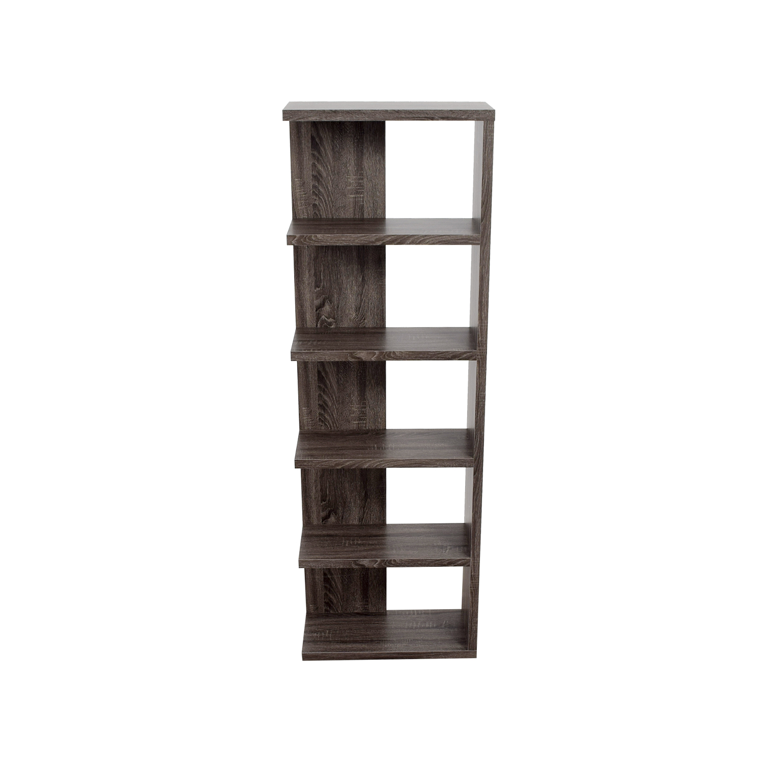 buy Contemporary Weathered Grey Bookcase