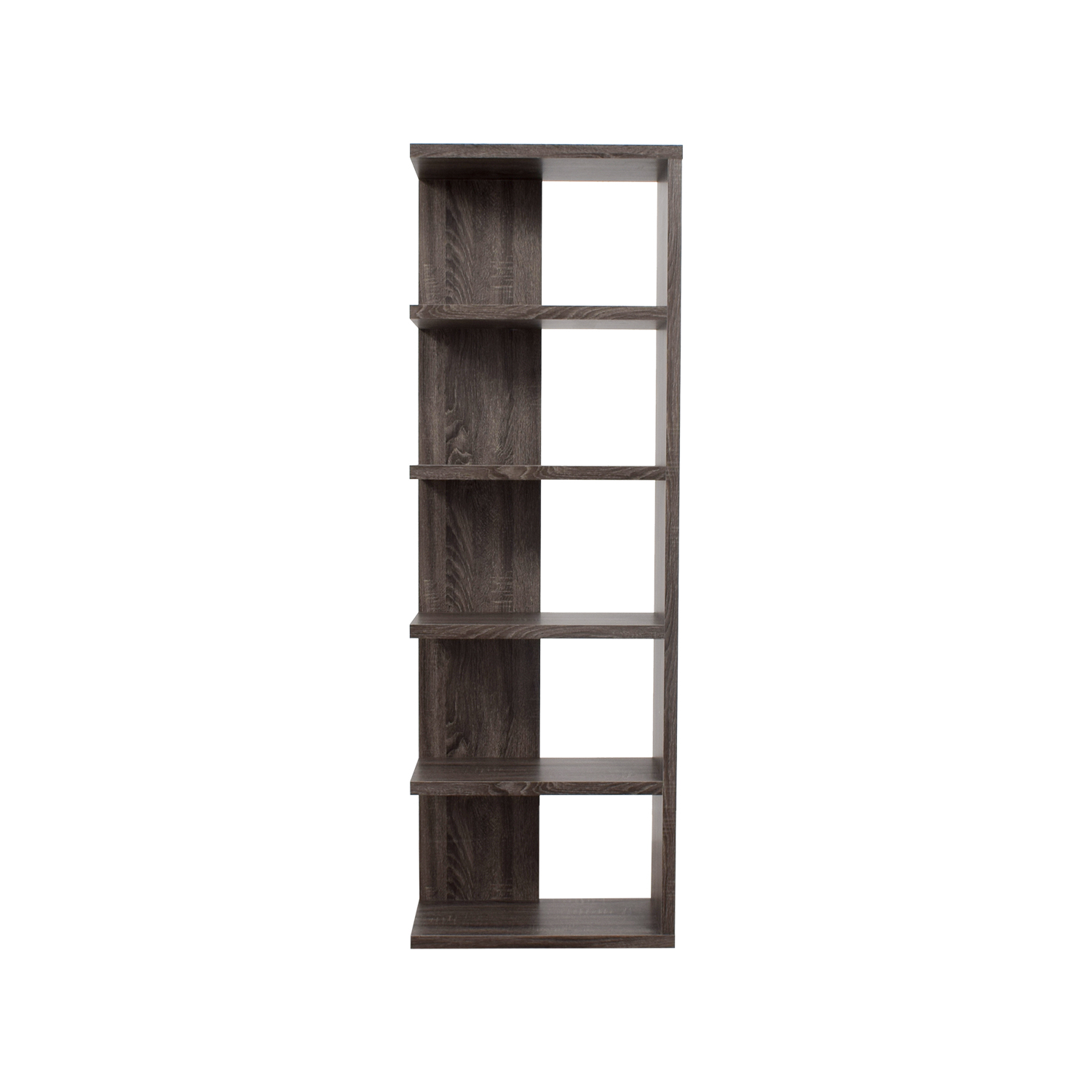 Contemporary Weathered Grey Bookcase / Bookcases & Shelving