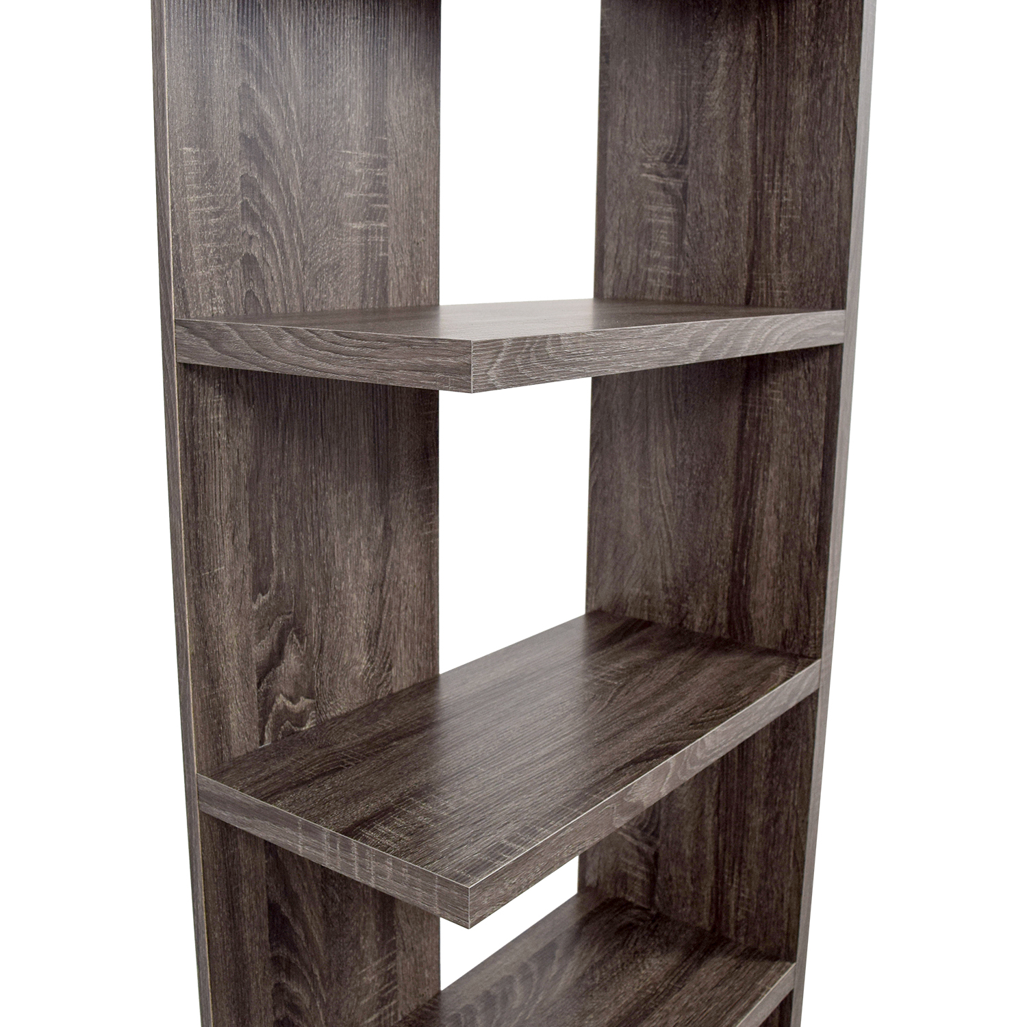 Contemporary Weathered Grey Bookcase second hand