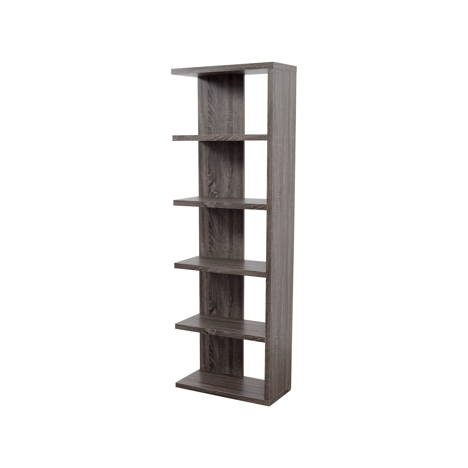 shop Contemporary Weathered Grey Bookcase