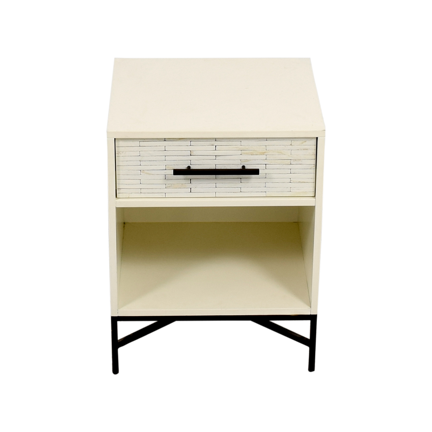 West Elm West Elm Wood-Tiled Nightstand Tables