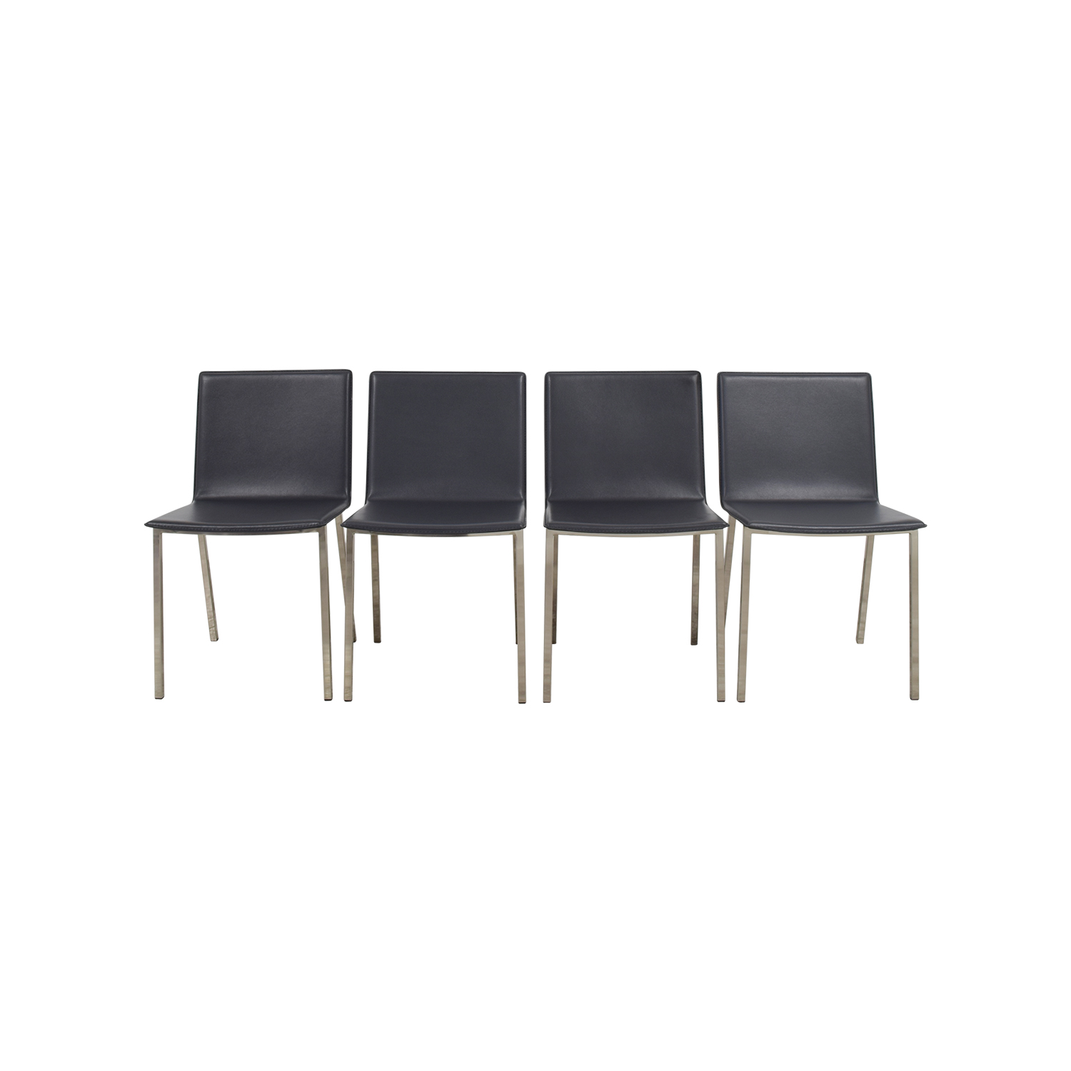shop CB2 Phoenix Carbon Grey Chairs CB2 Dining Chairs