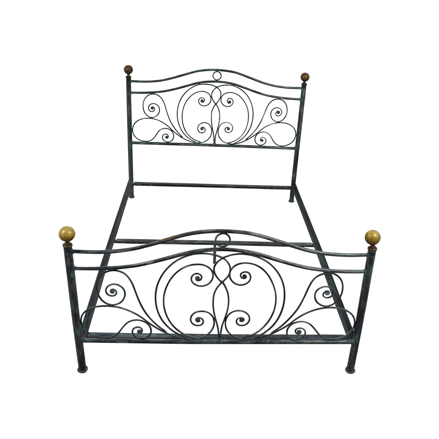 Charles P Rogers Queen Size Iron Bed