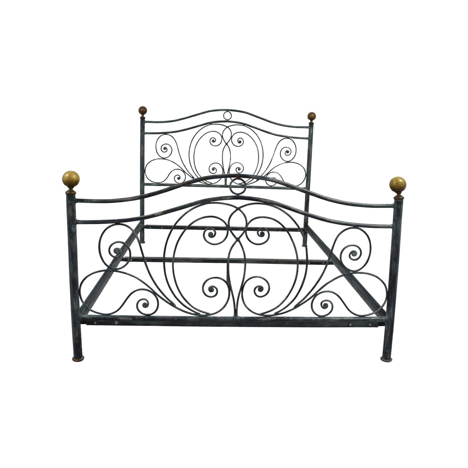 Charles P. Rogers Queen Size Iron Bed / Sofas