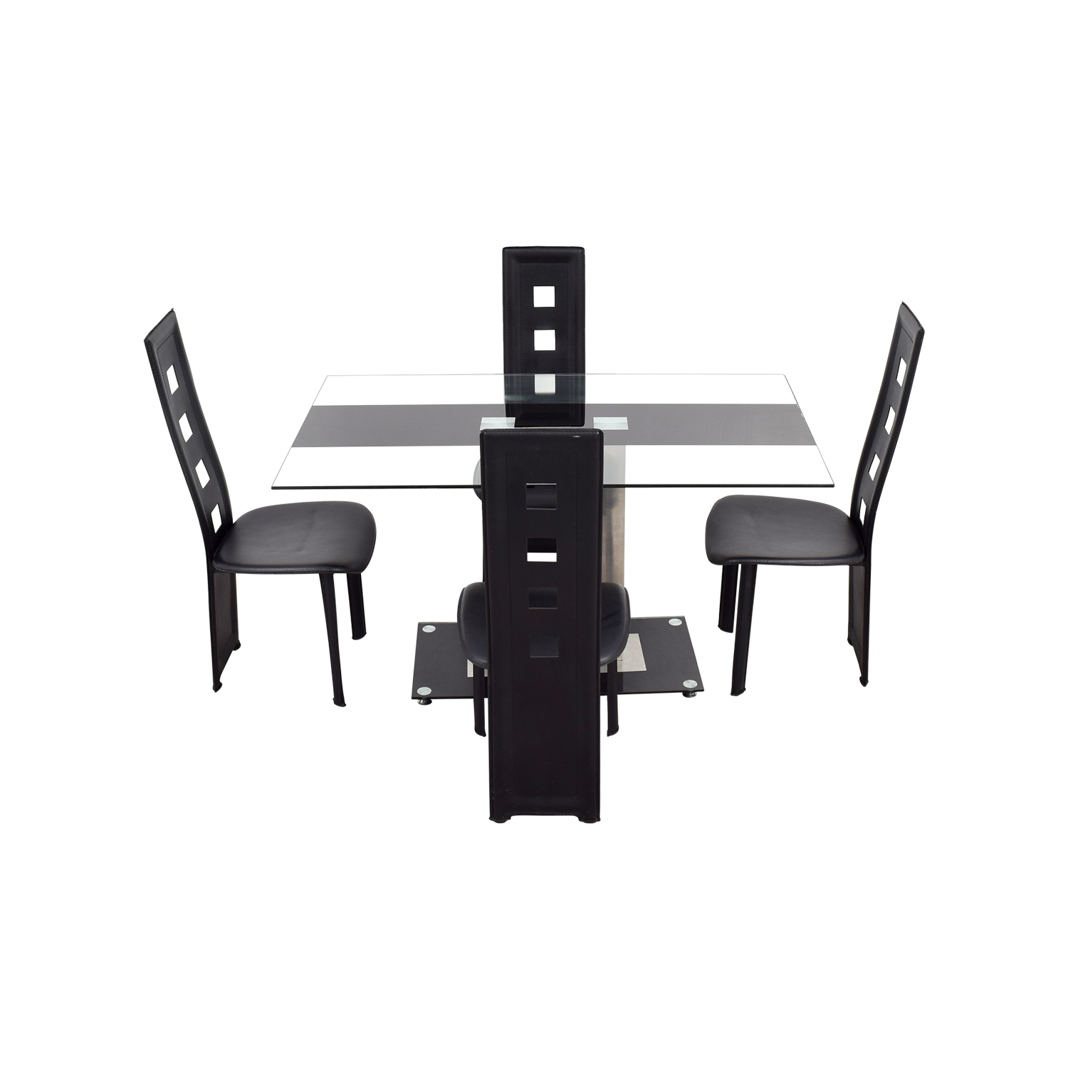 65% OFF   Modern Line Furniture Modern Line Furniture Black Dining Set /  Tables