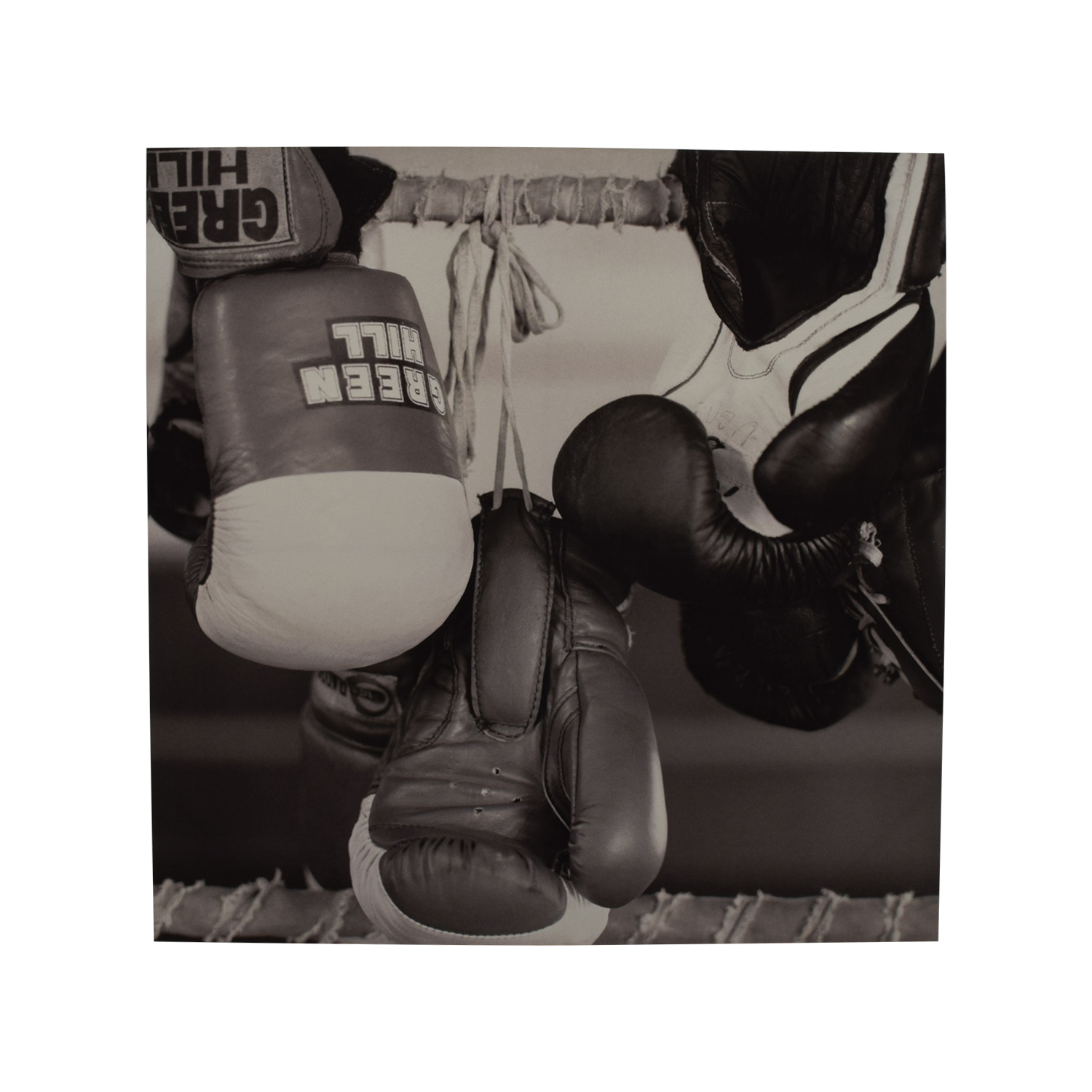 Black & White Boxing Painting on sale