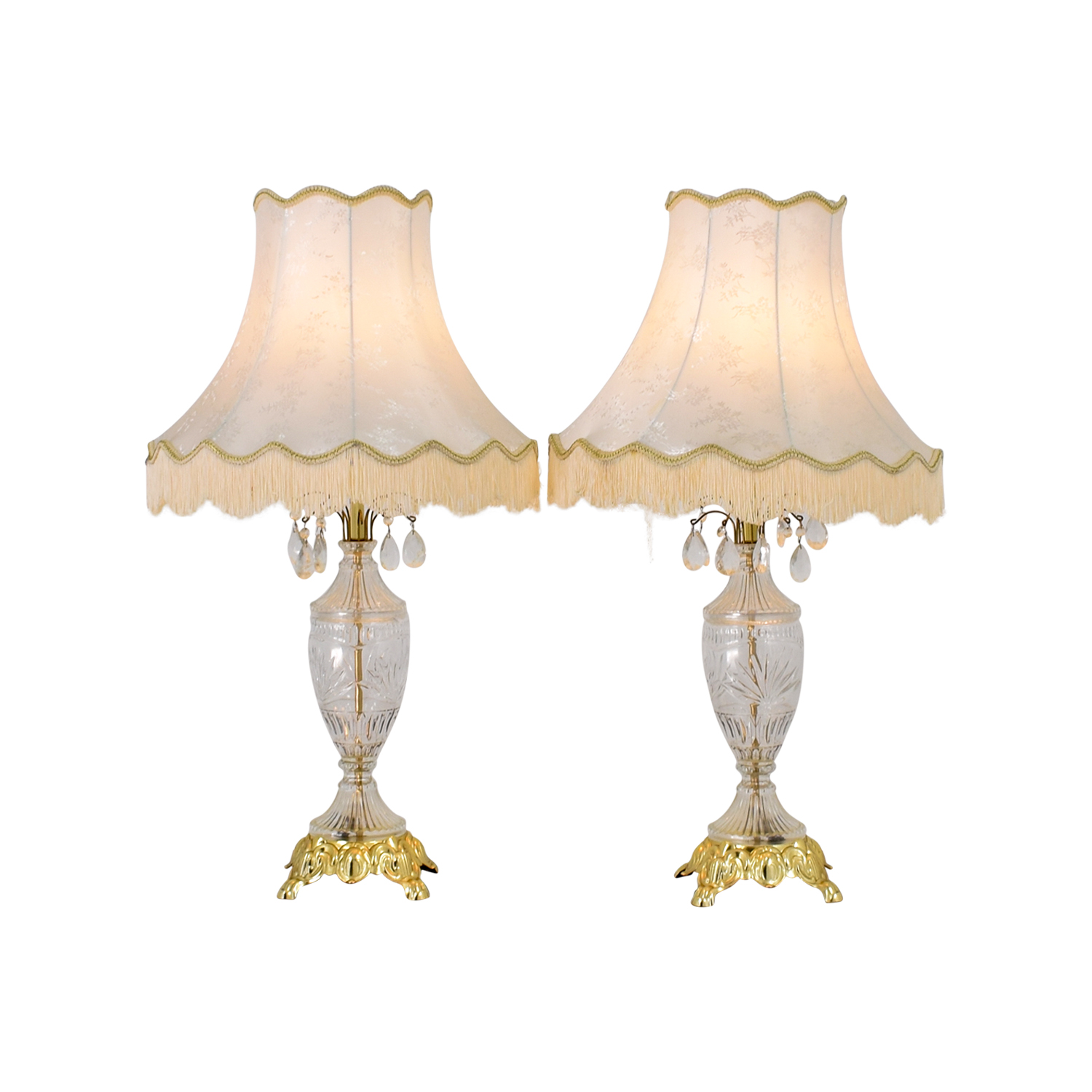 Antique Glass Lamps dimensions