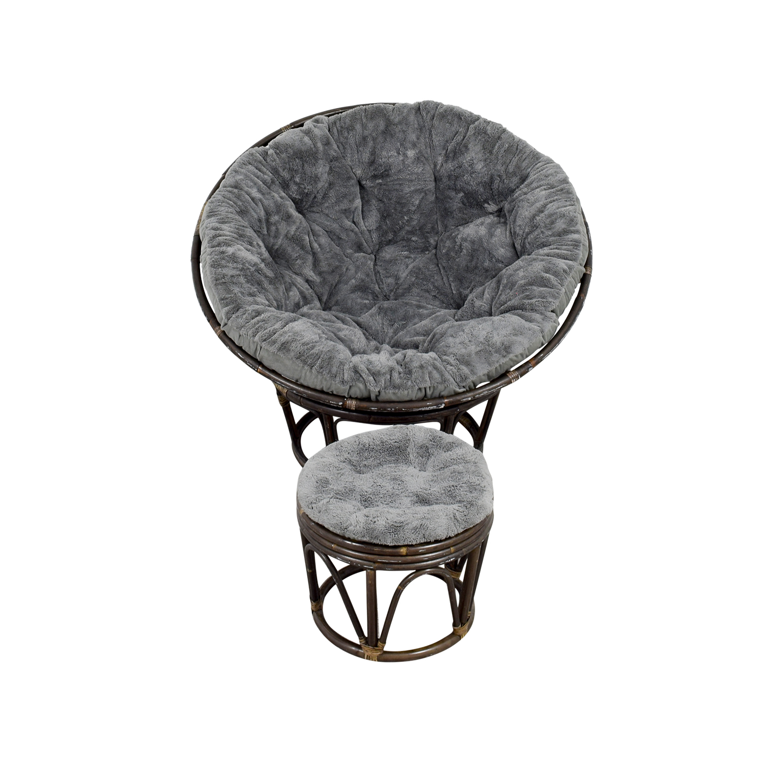 Pier 1 Papasan Chair with Stool / Accent Chairs