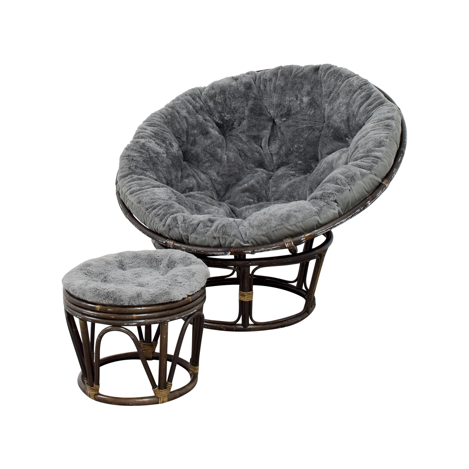 Pier 1 papasan chair with stool sale