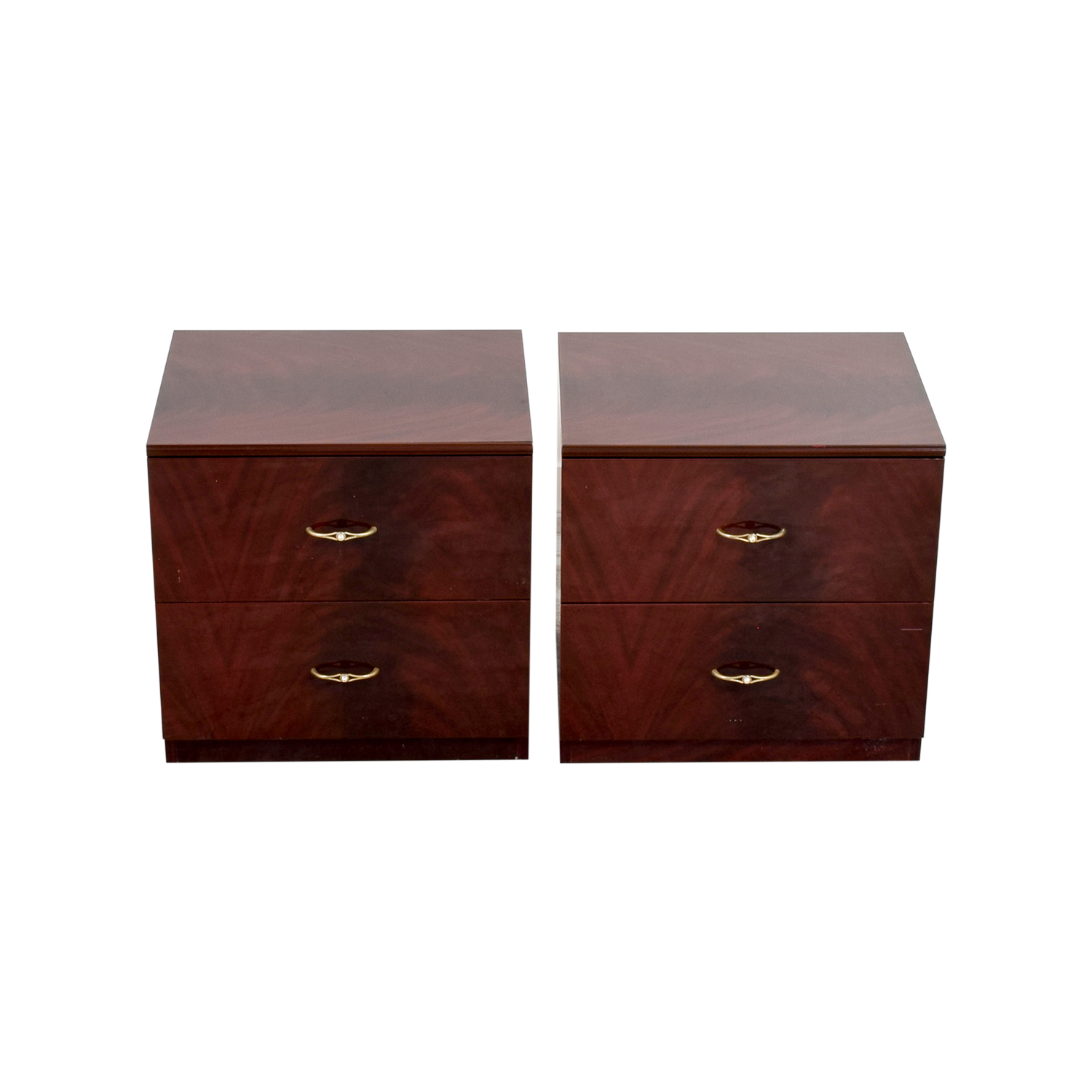 buy Wood with Gold Accent Nightstands  End Tables