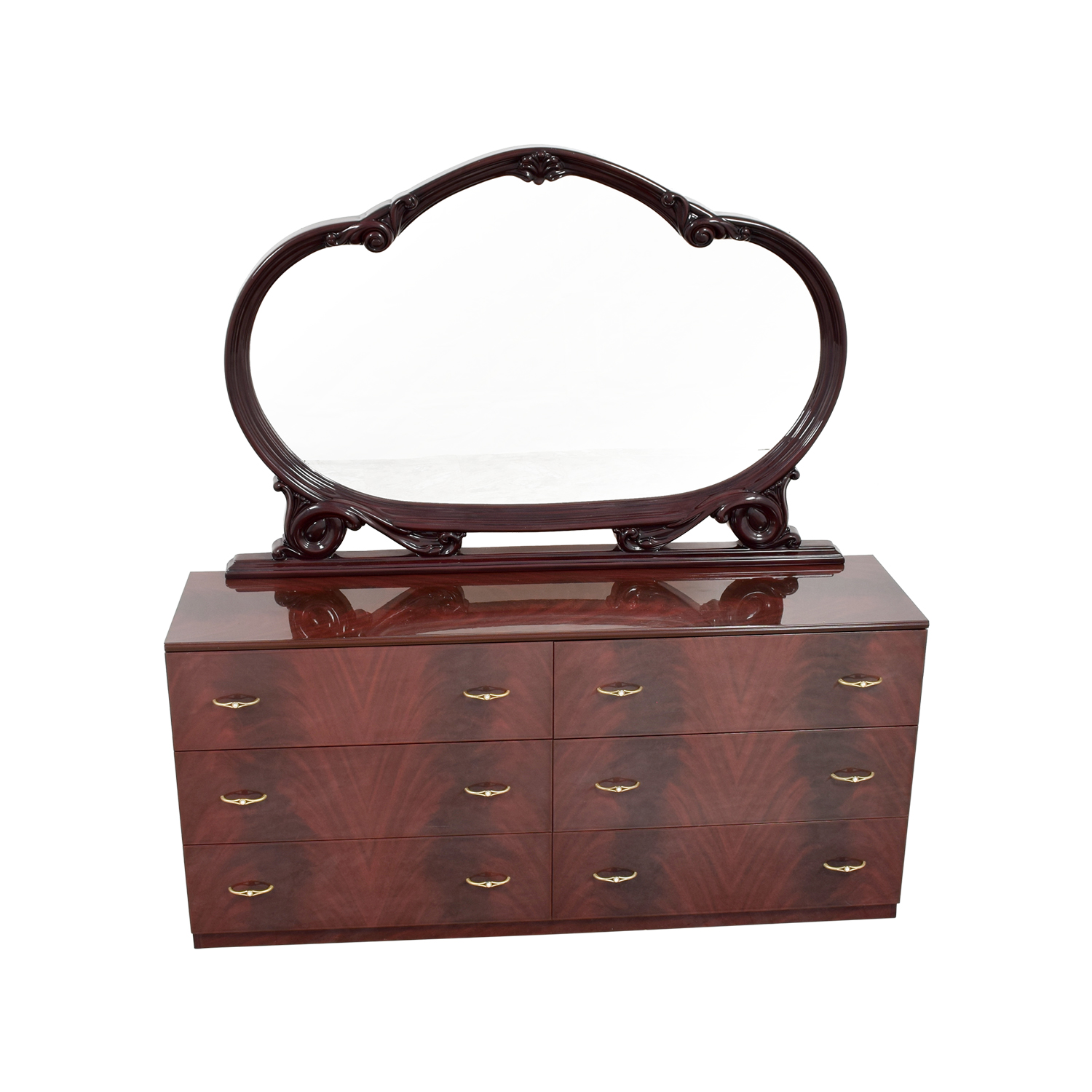 shop Solid Lacquered Six-Drawer Dresser  Dressers
