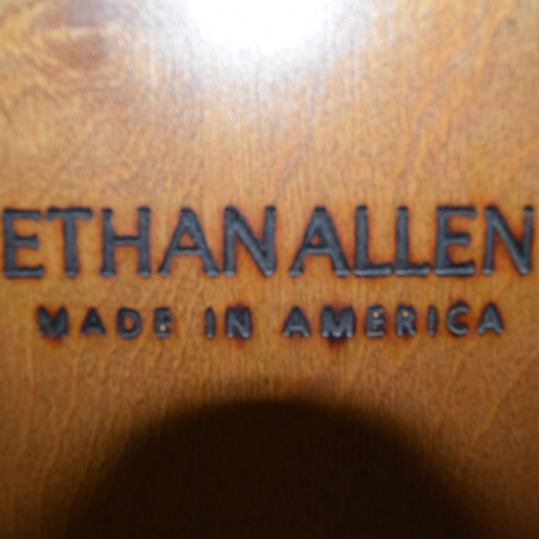 buy Ethan Allen Cherry Wood & Black Desk with Hutch Ethan Allen