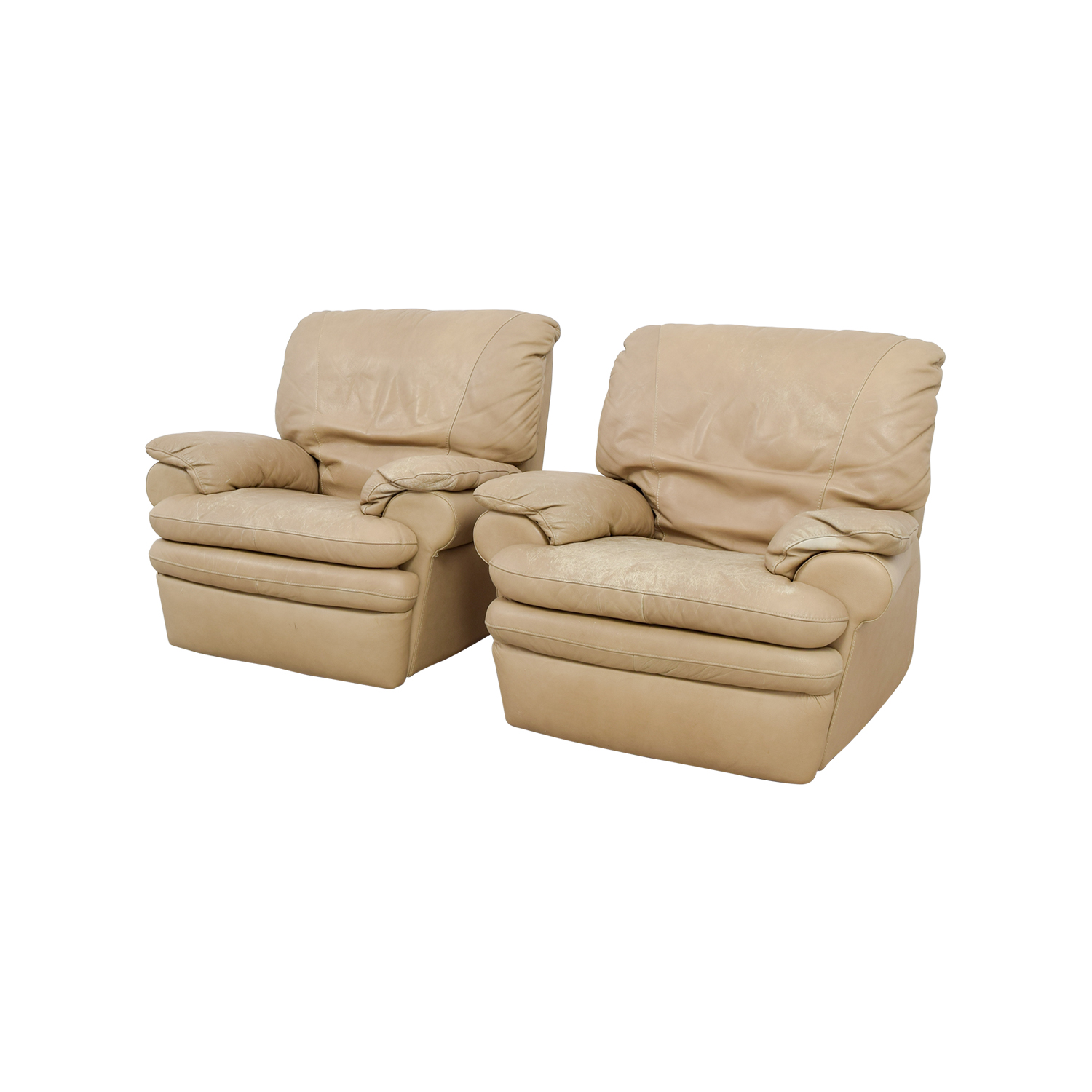 ... Natuzzi Italia Natuzzi Italian Beige Leather Recliners Recliners ...  sc 1 st  Furnishare : beige leather recliner - islam-shia.org
