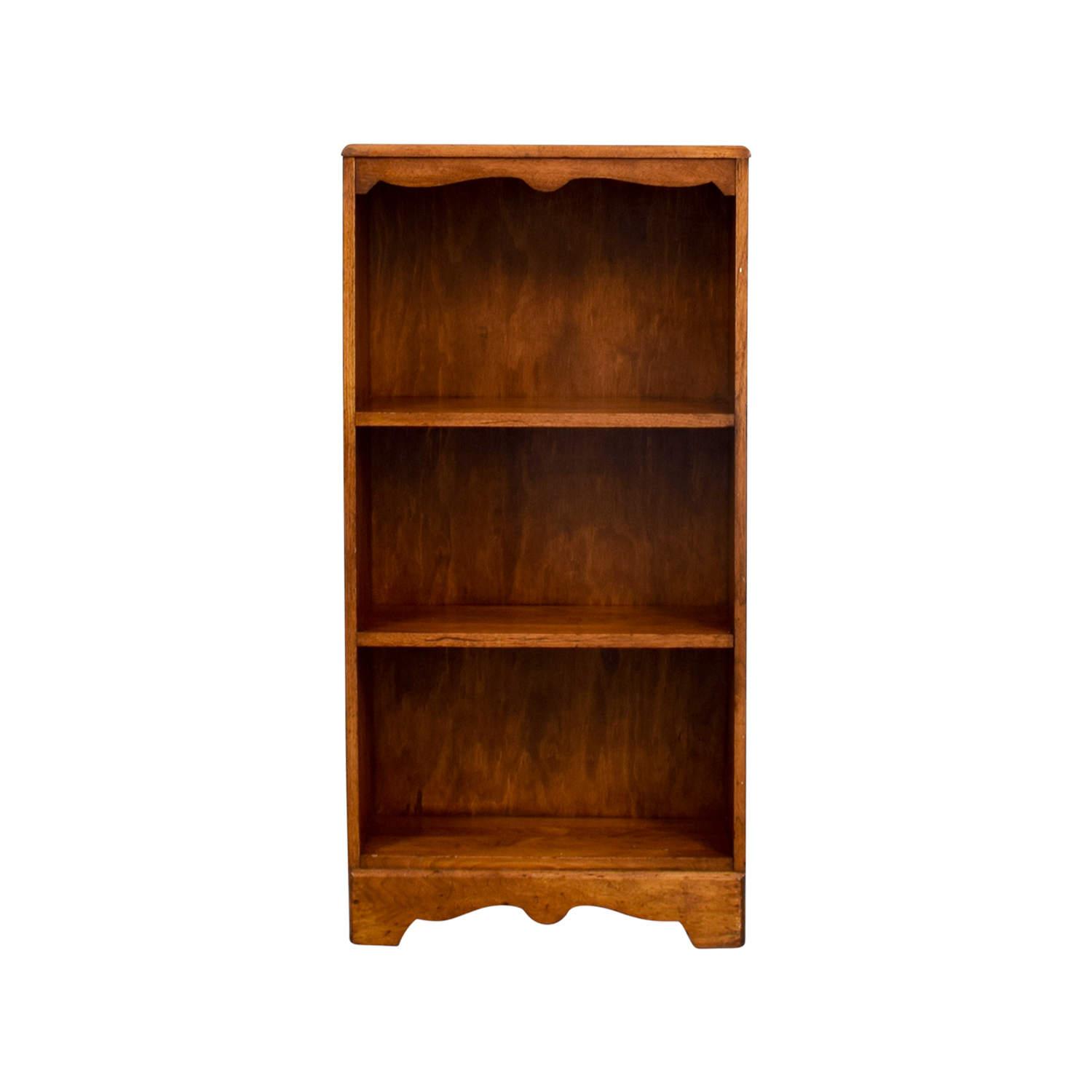 shop Dovetailed Wood Standing Bookshelf Storage