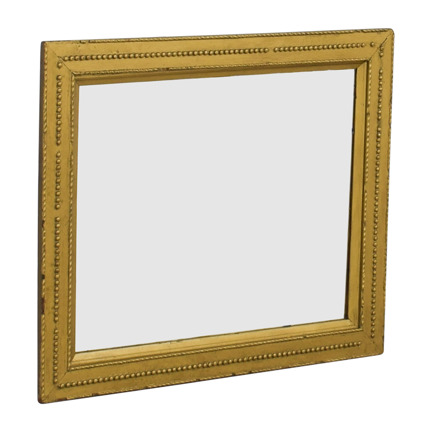 Rustic Gold Framed Mirror discount
