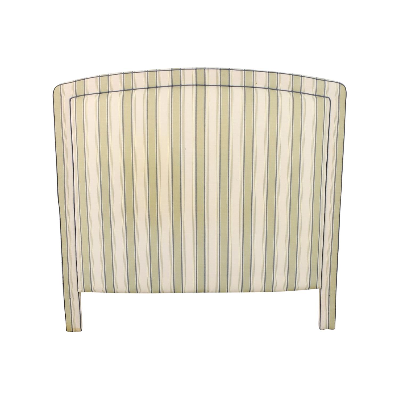 shop  Custom Fabric Striped Headboard online