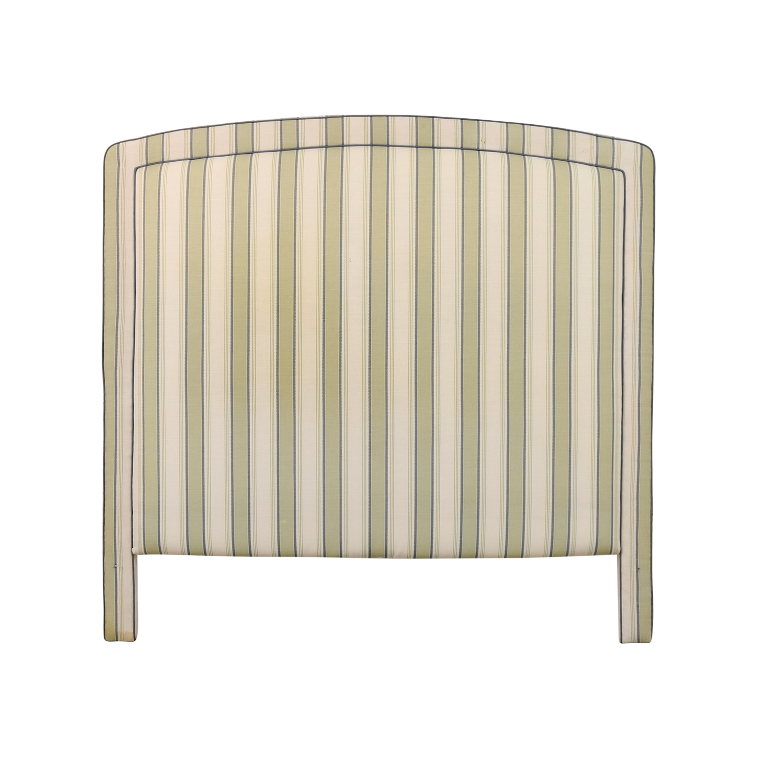 Custom Fabric Striped Queen Headboard for sale