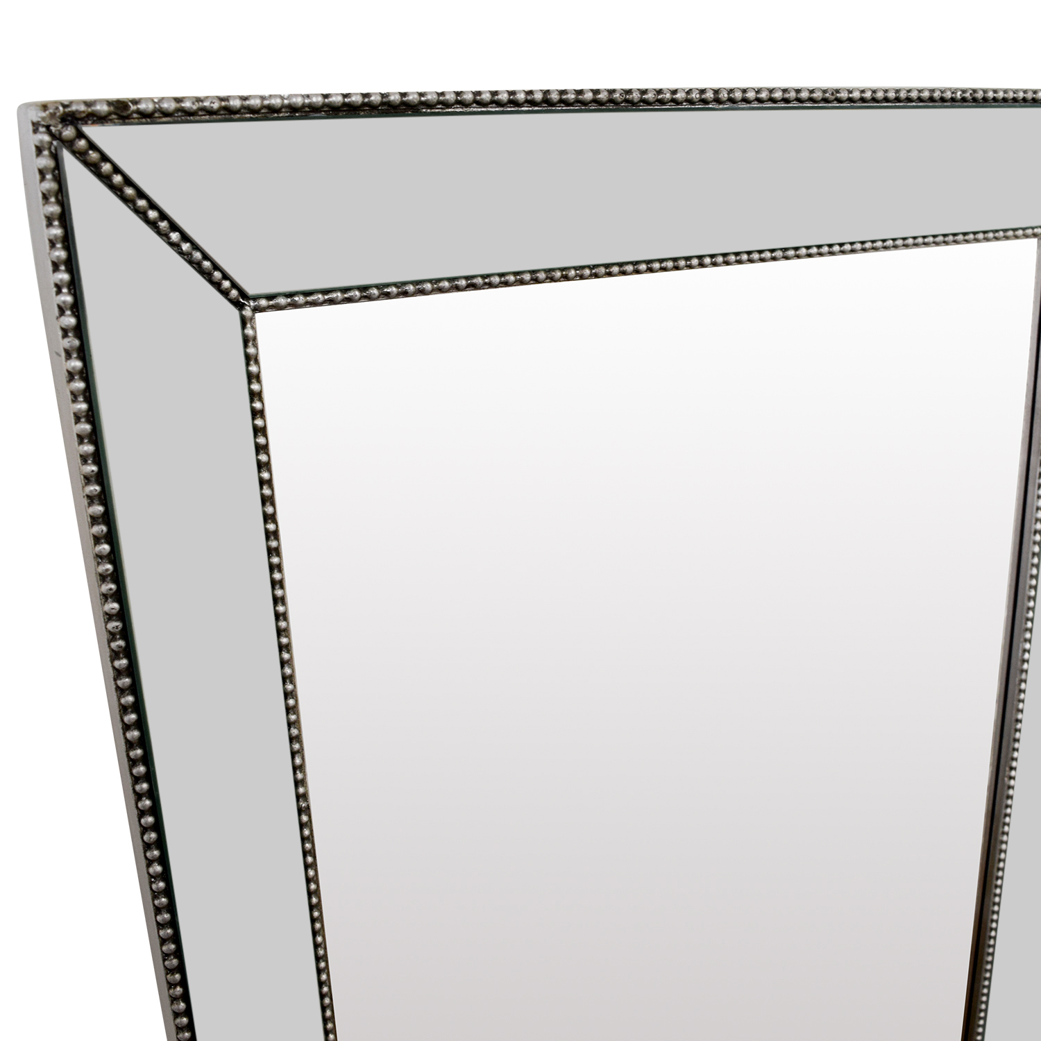 Beveled Silver Rectangle Mirror used