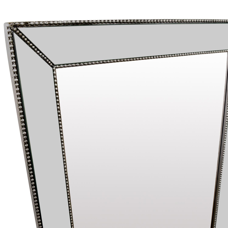 Beveled Silver Rectangle Mirror / Decor