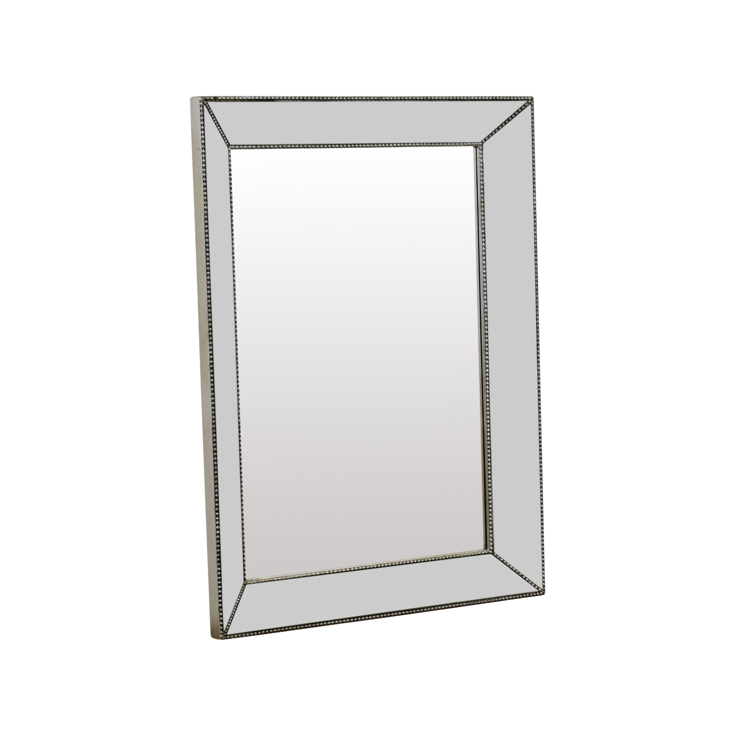 Beveled Silver Rectangle Mirror