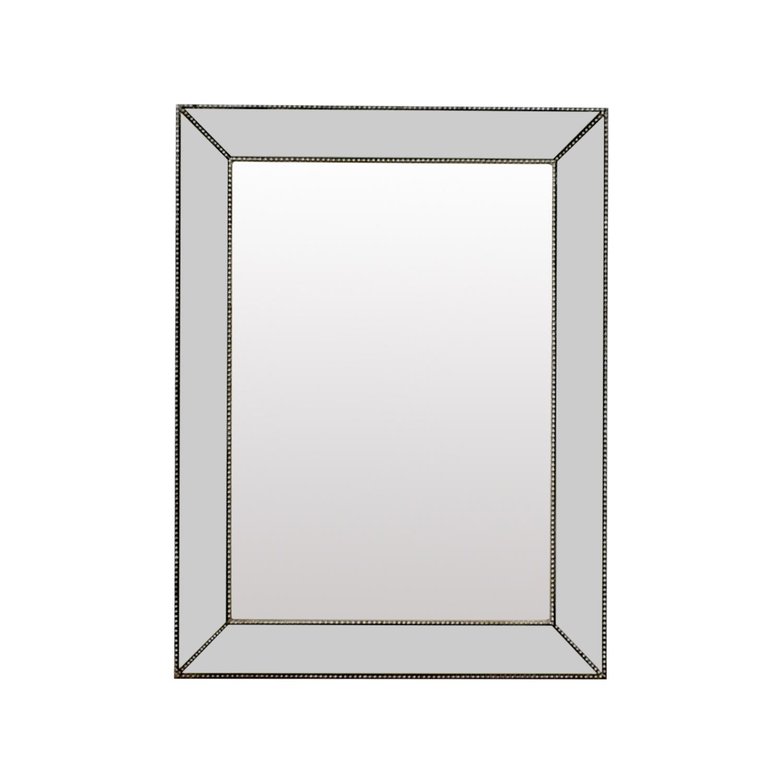 shop Beveled Silver Rectangle Mirror Decor