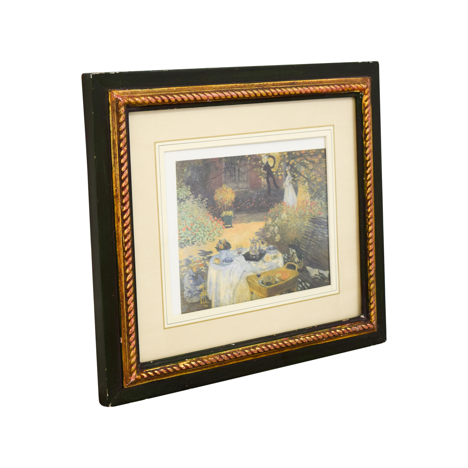 The Luncheon, Monets Garden at Argenteuil Framed Print nyc