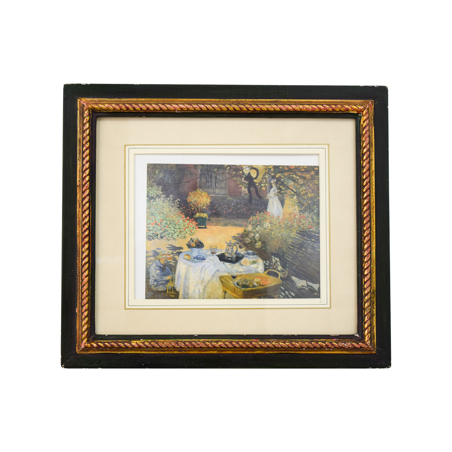 The Luncheon, Monets Garden at Argenteuil Framed Print on sale