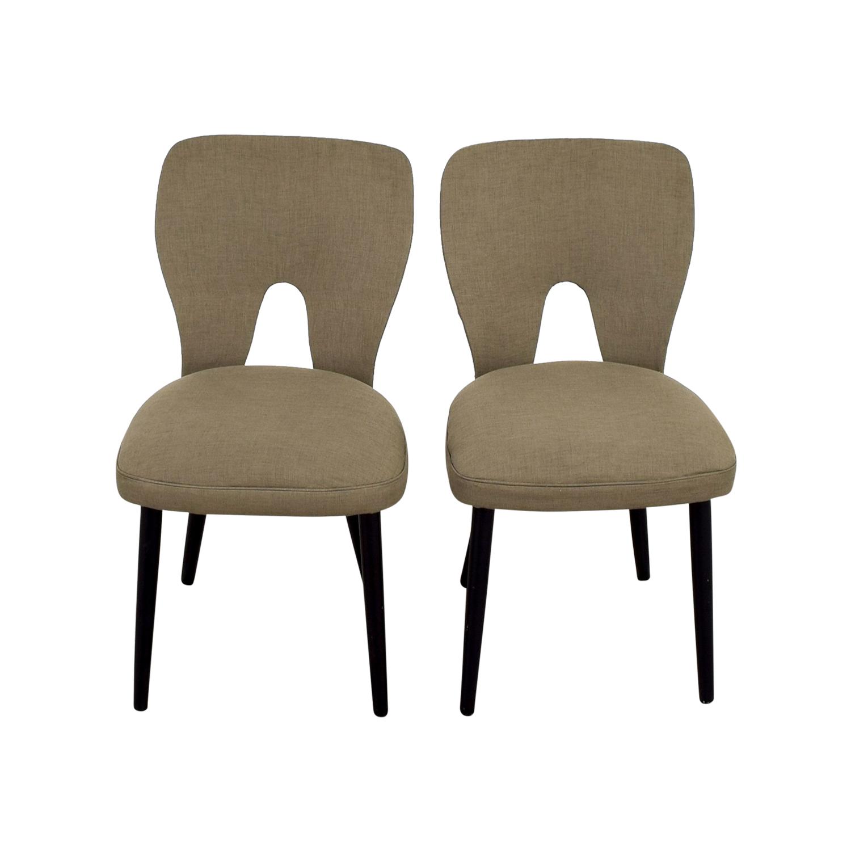 shop Wayfair Wayfair Upholstered Beige Dining Chairs online