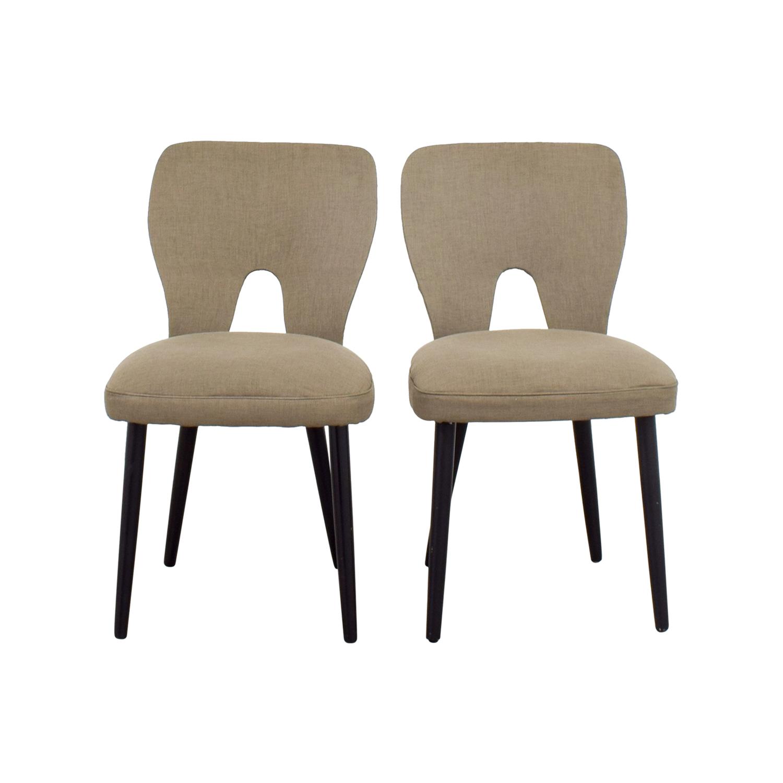 62% OFF - Wayfair Wayfair Upholstered Beige Dining Chairs ...