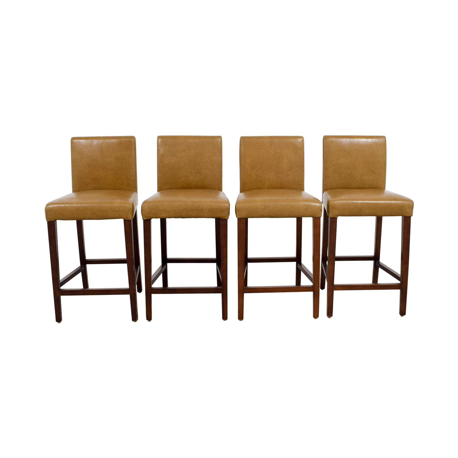 West Elm West Elm Faux Leather Stools second hand