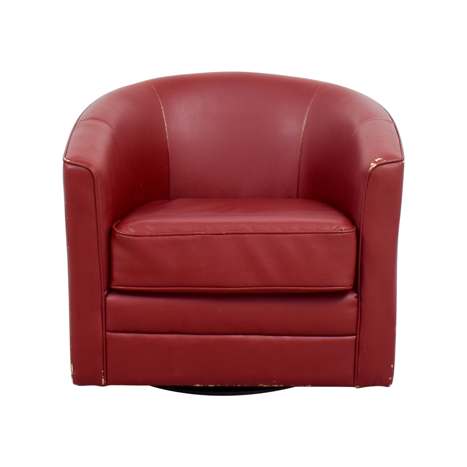 Bobs Furniture Bobs Furniture Red Leather Chair Accent Chairs