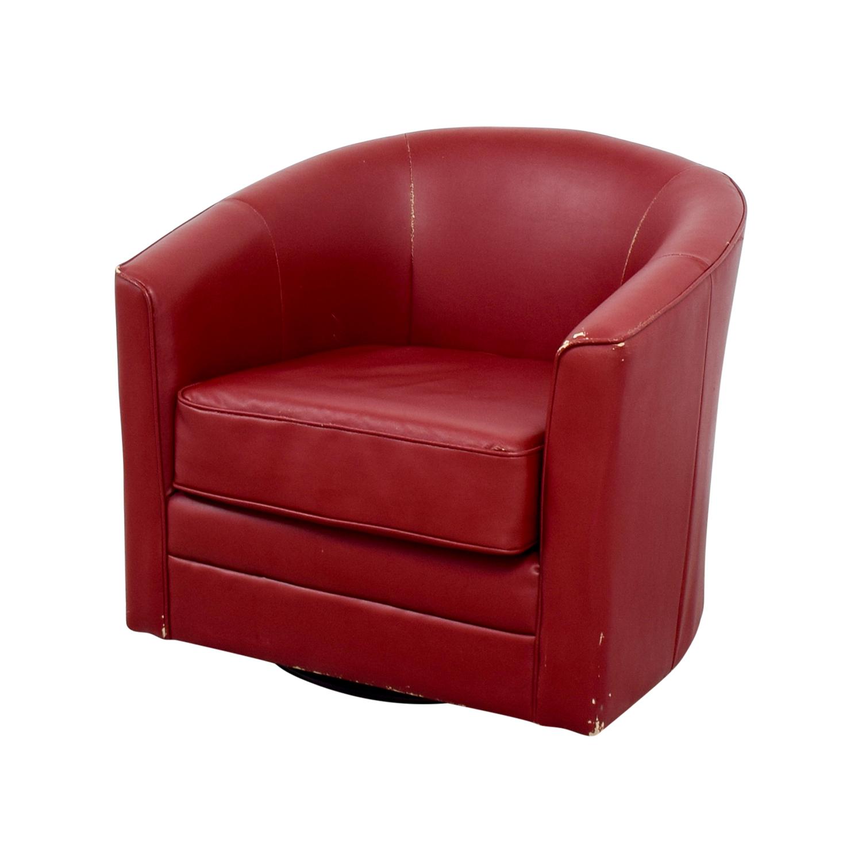 90 Off Bob S Furniture Bob S Furniture Red Leather