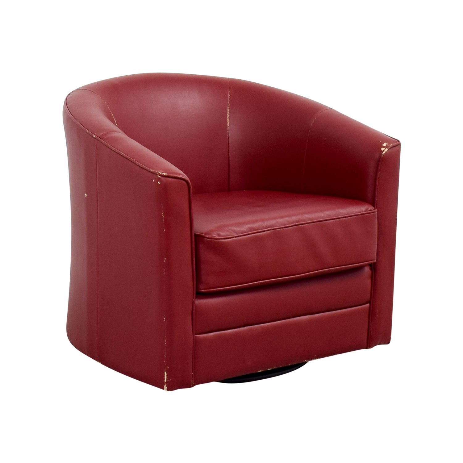 80% OFF Bob s Furniture Bob s Furniture Red Leather Chair Chairs