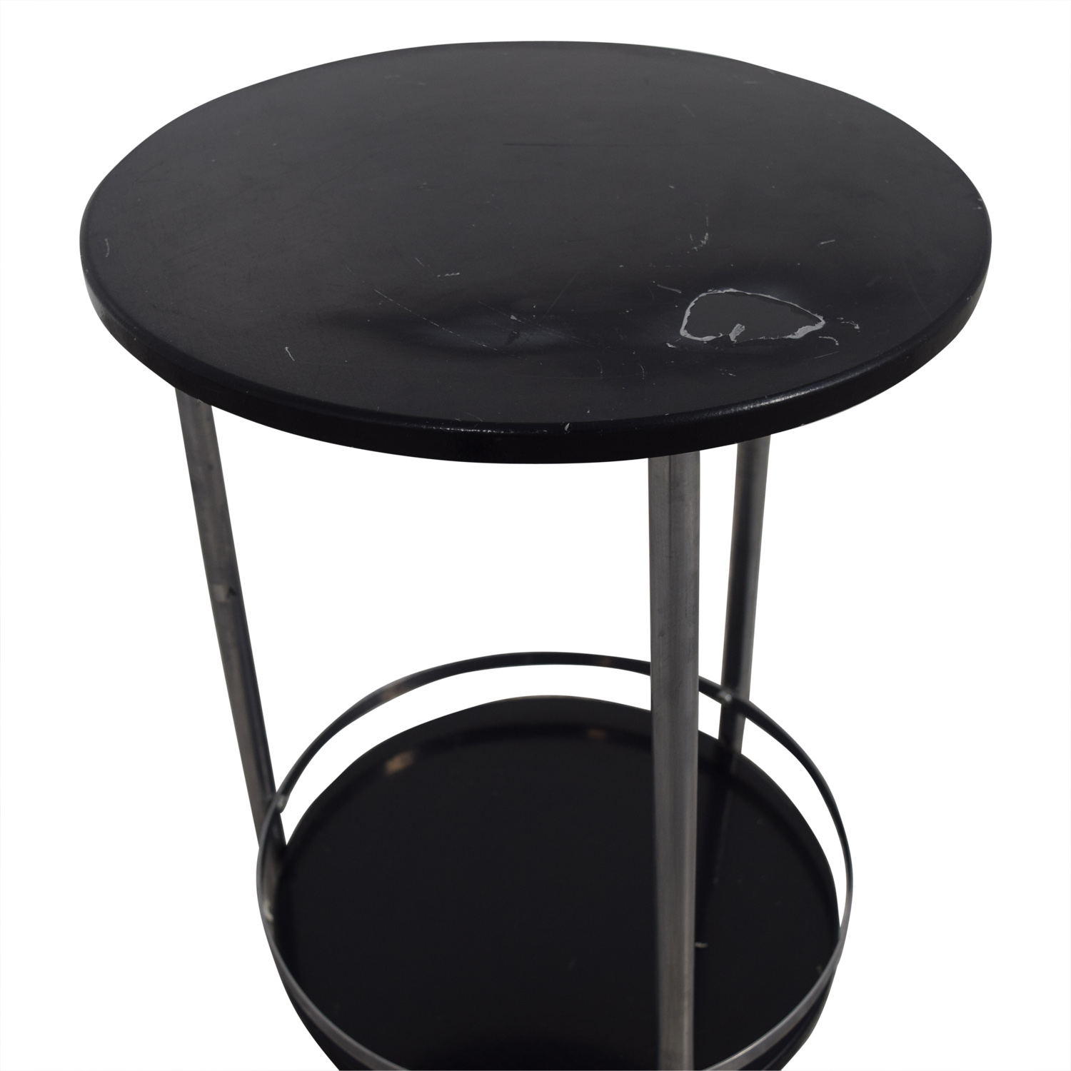 66 off round black and chrome end table tables for Buy round table