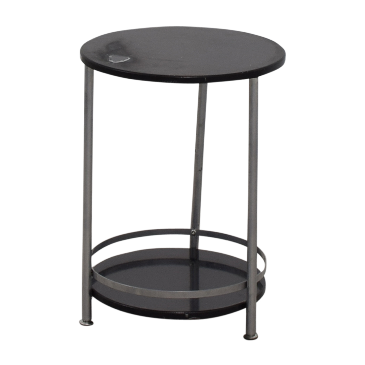 66 off round black and chrome end table tables for Black round end table