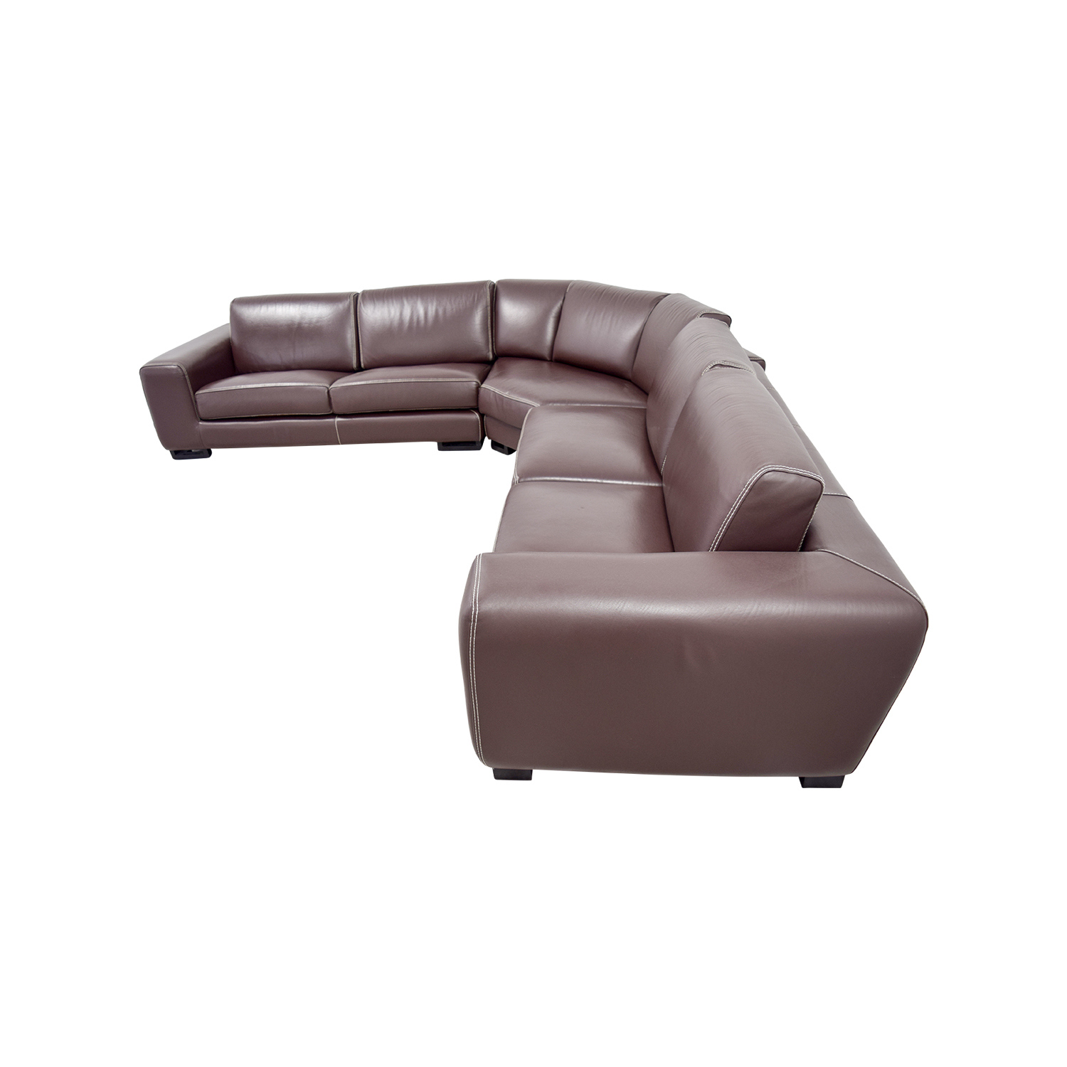 Roche Bobois Roche Bobois Brown Leather Sectional Sofa Bed dimensions